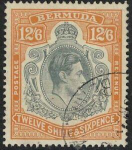 bermuda stamps - george vi - 12 shillings 6d sg120a > perf 14 fine used hcv