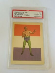 Boxing Trading Card 1956 Adventure PSA 8 Jim Jeffries California Grizzly #79 CA