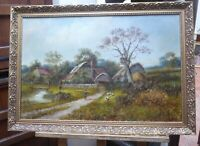 LARGE OIL ENGLISH LANDSCAPE LISTED ARTIST A WATTS 1817 FREE SHIPPING TO ENGLAND