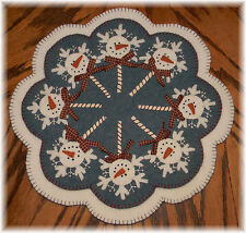 ~*FrOsTy PoPs*~ Snowman Penny Rug/Candle Mat PATTERN Applique