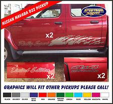 NISSAN NAVARA D22 PICKUP QUAD CAB - RALLY SPORT DECAL KIT - FIT THE BEST!