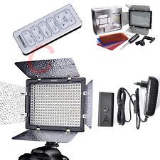 YN-300 LED Video Light+110-220V AC Adapter Power for Canon Nikon SLR DSLR Camera