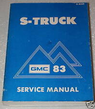 1983 GMC S-15 TRUCK PICKUP JIMMY Service Manual GM S Factory Dealer Shop Repair
