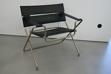 Tecta D4 Faltsessel Sessel Kernleder schwarz Bauhaus Design Marcel Breuer