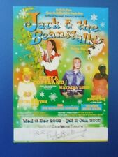 THEATRE FLYER JACK AND THE BEANSTALK SIGNED BY FREYA COPELAND [ EMMERDALE ]