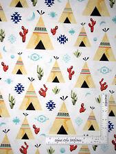 Teepee Tent Southwest Diamond Cactus Cotton Fabric Hoffman Desert P4338 - Yard
