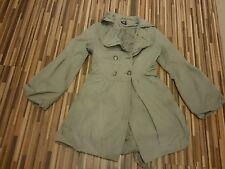 Precioso Damas BAY Trading Verde Lindo Abrigo ligero con cinturón talla 8