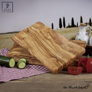 2 x 2.Wahl Frühstücksbrett Olivenholz Schneidebrett ca. 25 cm rechteckig