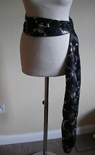 PIRATE   SASH  HAT TIE BLACK SATIN FANCY DRESS  ITEM