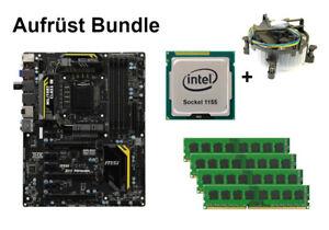 Bundle MSI Z77 MPOWER + Intel Core i3 i5 i7 CPU + 4GB bis 32GB RAM wählbar