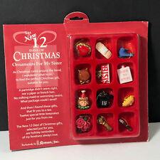 Roman 12 Days Christmas Ornaments holiday keepsakes for Sister sibling gift tree