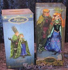 Disney Designer Fairytale Dolls Frozen Anna And Kristoff LE New!