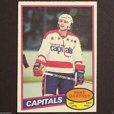 MIKE GARTNER - RC - 1980/81 OPeeChee #195 Washington Capitals HOF Rookie single.