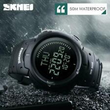 SKMEI Men's Compass Survival Camping Digital Countdown LED Quartz Wrist Watch US