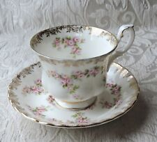 Tazza da tè Royal Albert Dimity Rose Tea Cup & Saucer 1969 England