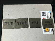 More details for post box collection day plate metal tabs - set of 4