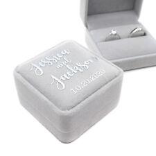 Personalized Velvet Wedding Ring Box Ring Holder Bearer Proposal Engagement Gift