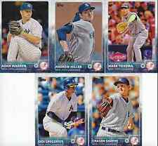 2015 Topps Update NEW YORK YANKEES team set - 4 RC checklist listed