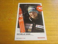 Michelle Gisin Autographed/Signed 4X6 Photograph Swiss Olympic Skiing
