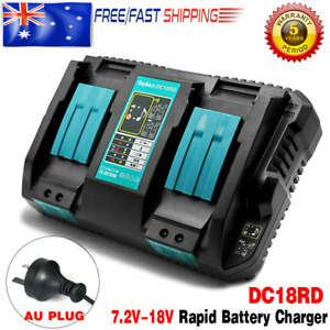 For MAKITA DC18RD 18V Li-ion Battery Charger Double Fast Charging Port BL1830 AU