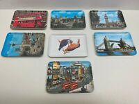 Vintage Lot-London Souvenir Plates Britain Pavo Melamine Queens Guard Made Italy