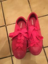 youth sneakers converse 3.5 all reddish pink, padded tongue, little wear, lovely