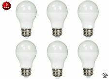 6 Pack - LED 100 Watt Equivalent 100W 3000K A19 Warm White Light Bulb 12W UL
