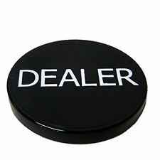 """2"""" Printed Poker Dealer Button, Black"""