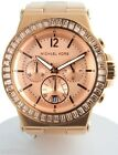 Michael Kors Women's Rose Gold tone Crystals on Bezel Bracelet Watch MK5412