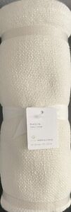 Pottery Barn Mason Cotton/Linen Table Throw In Ivory