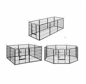24 inch 8 Panel Pet Dog Playpen Puppy Exercise Cage Enclosure Fence Cat Play Pen