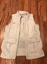 Columbia Women's Titanium Tan/Khaki Size XS Fly/Fishing/Outdoor Full-Zip Vest