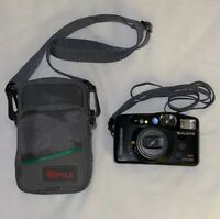 Fujifilm Discovery 270 Zoom 35mm Point & Shoot Film Camera Gray Fuji Case Tested