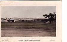 John White Postcard, Burnett Traffic Bridge Bundaberg, QLD C.B. & Co Graphic