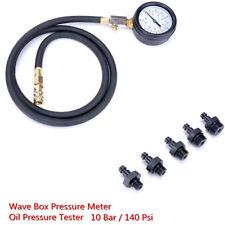 Universal Wave Box Oil Pressure Meter Test Kit Tester Gauge Auto Car Garage Tool