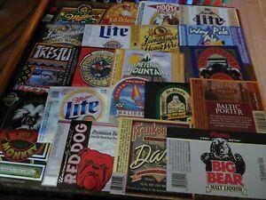 50 Different US Beer Labels Unused #1 1980's - 2000's
