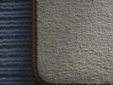 $$$ DeLuxe Velours Fußmatten für Jaguar XJ X350 BEIGE + Nubukkeder braun + NEU