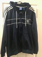 Adidas Originals Hoodie Track Top Jacket Full Zip Blue XL