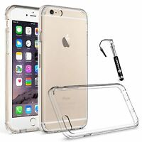 For Apple iPhone 6S 6 Plus Clear Case Ultra Thin Hybrid Silicone Gel Hard Cover
