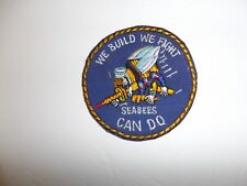 b3492 WW2 US Navy Seabees pocket patch unofficial We Build We Fight Can Do IR34E