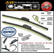 """2PC 22"""" / 22"""" Direct OE Replacement Premium ALL Weather Windshield Wiper Blades"""