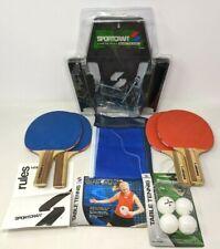 Sportscraft Padl Pak Table Tennis Set Paddles Balls Net & Post Model #19008