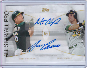 2021 Topps On Demand Dynamic Duals MATT CHAPMAN JOSE CANSECO Dual AUTO A's
