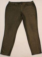 Lane Bryant Women/'s Gold Bronze Skinny Shimmer Pants Size 24 3X~Stretch ~Glam