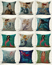 wholesale lot 10 mermaid ocean nautical decorative pillow covers cushion covers