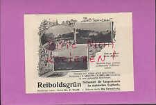 REIBOLDSGRÜN/Vogtland, Werbung 1906, Heilanstalt für Lungen-Kranke Dr. F. Wolff