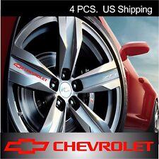 4 CHEVY Chevrolet Stickers Decals Wheels Rims Camaro sticker decal sport RED