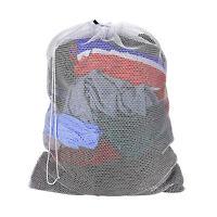 "Large 25""x 33 White Mesh Net Laundry Bag Lingerie Delicates Underwear Drawstring"