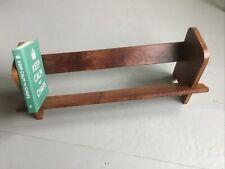 """More details for vintage wooden book stand shelf holder . 17.5"""" wide"""