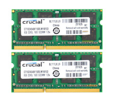 For Crucial 16GB 2X 8GB PC3L-12800 DDR3L-1600MHz 204Pin SoDIMM Laptop Memory RAM